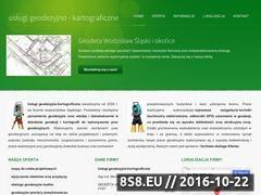 Miniaturka domeny www.geodezjawodzislaw.pl