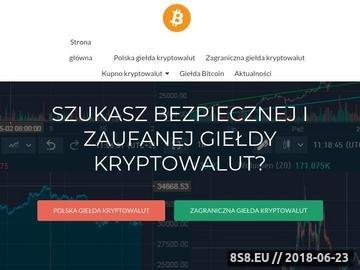Zrzut strony Informacje o polskiej i zagranicznej giełdzie kryptowalut