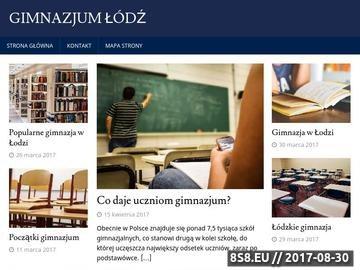 Zrzut strony Dobre gimnazjum Łódź