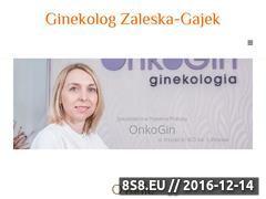 Miniaturka domeny www.ginekologzaleska-gajek.pl