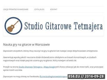 Zrzut strony Nauka gry na gitarze z Michałem Przerwą-Tetmajerem w Warszawie