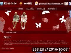 Miniaturka domeny www.gliniany-zakatek.namazurach.info