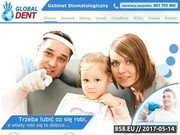 Zrzut strony Dentysta Radom Stomatolog Global Dent