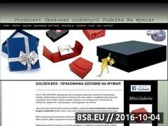 Miniaturka domeny www.goldenbox.com.pl