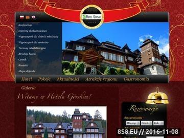 Zrzut strony Hotel oferuje zakwaterowanie oraz organizację przyjęć i szkoleń