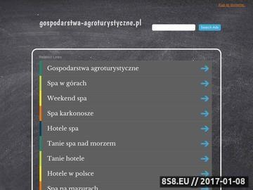 Zrzut strony Gospodarstwa Agroturystyczne w Polsce - baza noclegowa