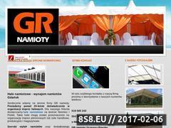Miniaturka domeny www.gr-namioty.pl