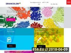Miniaturka grancolor.pl (Produkcja koncentratów barwiących i pigmentów)