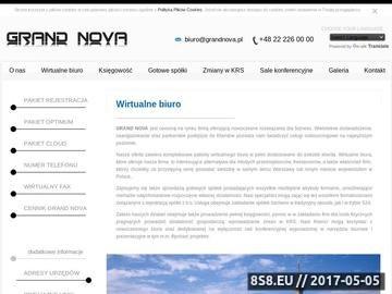 Zrzut strony Wirtualne biuro Warszawa
