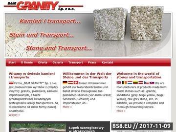 Zrzut strony Wyroby z kamienia i transport wysokotonażowy | B&M Granity