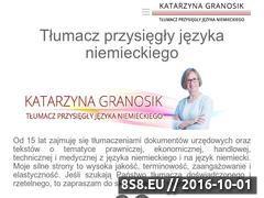Miniaturka domeny www.granosik-tlumacz.pl