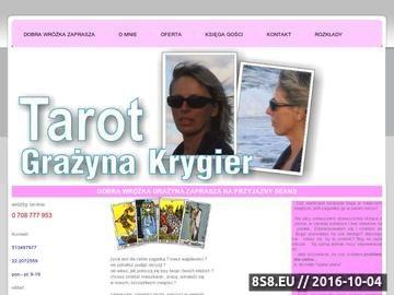 Zrzut strony Tarot - Wróżka Grazyna Krygier Warszawa - dobra, doświadczona wróżka