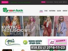 Miniaturka domeny www.greenluck.pl