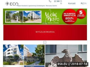 Zrzut strony Deweloperzy Warszawa - Eco