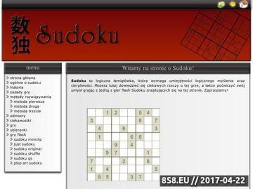 Zrzut strony Sudoku - gra dla myślących