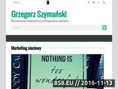Miniaturka gszymanski.pl (Artykuły dotyczące marketingu sieciowego)