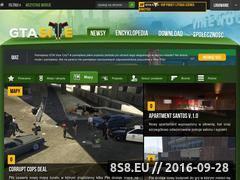 Miniaturka Strona poświęcone serii gier Grand Theft Auto (gtasite.net)