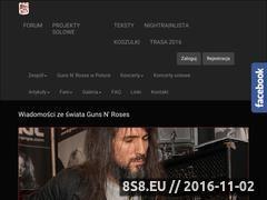Miniaturka gunsnroses.com.pl (Newsy ze świata Guns n' Roses)