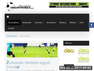 Zrzut strony Piłka to nasza pasja - najlepszy serwis Gwiazd Futbolu