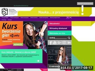 Zrzut strony Wyższa Szkoła Katowice