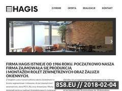 Miniaturka hagis.pl (Rolety, markizy oraz bramy garażowe)