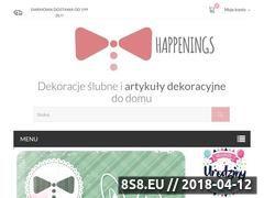 Miniaturka happenings.pl (Dekoracje ślubne, urodzinowe i świąteczne)