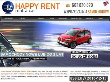 Zrzut strony Wypożyczalnia samochodów Gdańsk - Happy Rent