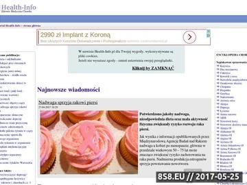Zrzut strony Encyklopedia Chorób - przyczyny, objawy, przebieg, leczenie, powikłania