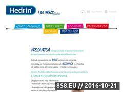 Miniaturka domeny www.hedrin.pl