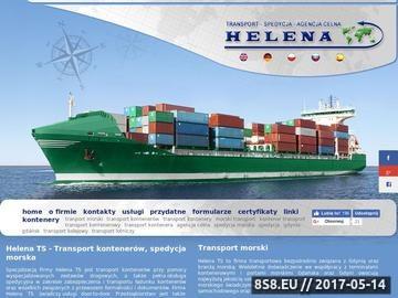 Zrzut strony Spedycja morska, Transport morski, Agencja celna HELENA-TS.pl