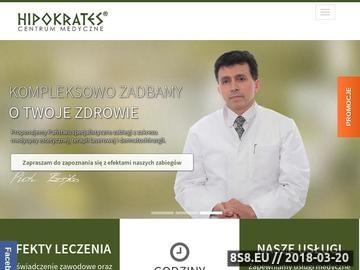 Zrzut strony Hipokrates - klinika medycyny estetycznej w Szczecinie