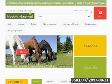 Zrzut strony HIPPOLAND - Sklep jeździecki - www.hippoland.com.pl