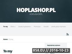 Miniaturka domeny www.hoplashop.pl