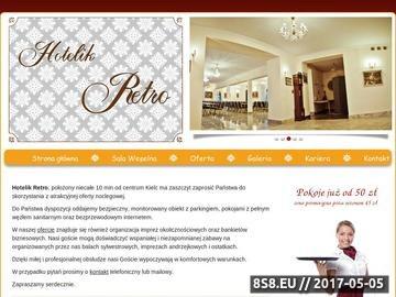 Zrzut strony Sala bankietowa, noclegi Nowiny, hotel Kielce - Hotelik Retro