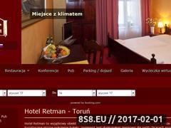 Miniaturka domeny www.hotelretman.pl