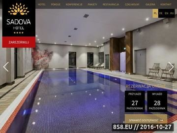 Zrzut strony Hotel Sadova oferuje wysoki standrad usług noclegowych