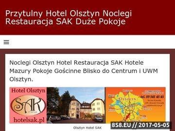 Zrzut strony Hotel Olsztyn - Noclegi Restauracja SAK