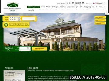 Zrzut strony Hotel Witek Kraków, wesela, konferencje, restauracja, katering