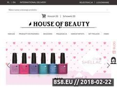 Miniaturka houseofbeauty.com.pl (House of Beauty - sklep z kosmetykami)