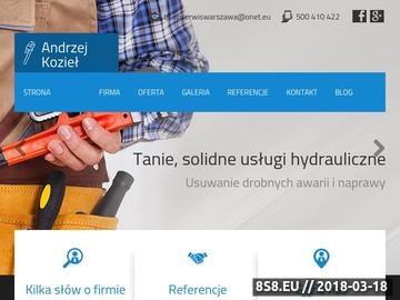Zrzut strony Eko-Tech - usługi hydrauliczne w Warszawie