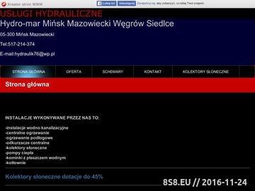 Zrzut strony Usługi Hydrauliczne - Mińsk Mazowiecki, Węgrów