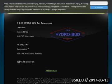 Zrzut strony Hydro Bud Warszawa - ogrodzenia, bramy przesuwne i balustrady nierdzewne