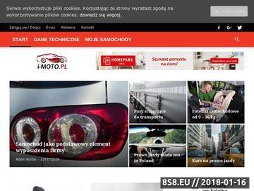 Zrzut strony I-MOTO.pl - subiektywny blog motoryzacyjny