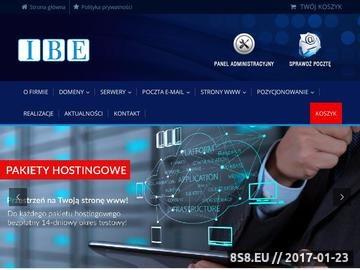 Zrzut strony Domeny pl - www.ibe.pl