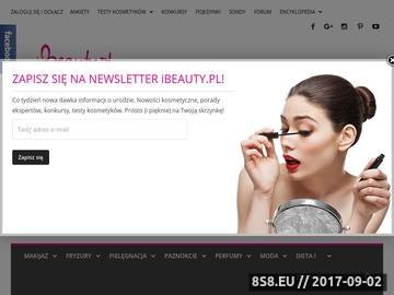 Zrzut strony IBeauty.pl - kolorowy magazyn o urodzie on line