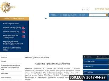 Zrzut strony Studia humanistyczne Kraków