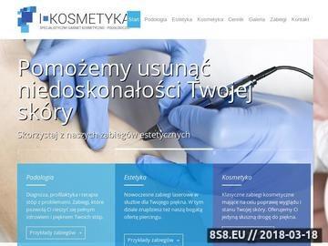 """Zrzut strony Gabinet Kosmetyczny """"i-kosmetyka"""" Sieradz"""