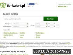 Miniaturka domeny www.ile-kalorii.pl