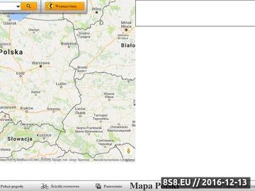 Zrzut strony Mapa Polski