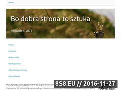 Miniaturka domeny www.immortal-art.pl